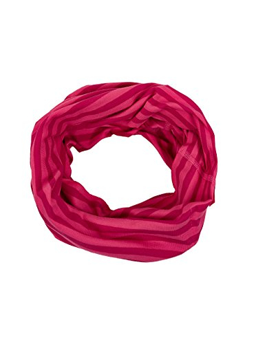 maximo Mädchen Multifunktionstuch Halstuch, Mehrfarbig (Pink Rose-Scarlet 241), 2