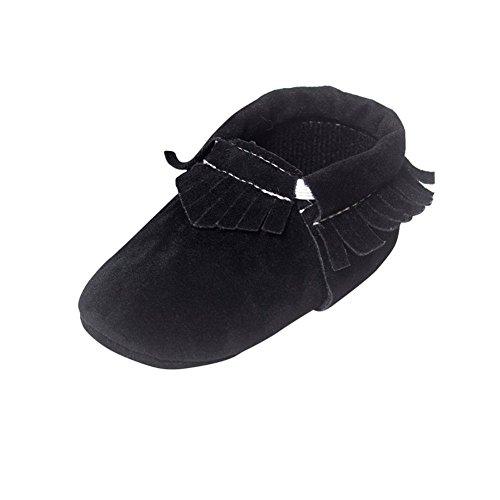 Moresave , Chaussures premiers pas pour bébé (fille) Noir
