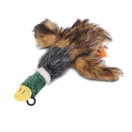 DoMoment Niedlichen Cartoon Hund Welpen Gefüllte Quietschen Spielzeug Plüsch Honking Ente Welpen Haustier Kauen Quietsche Quietschend Lustiges Spielzeug (Gefüllte Welpen)