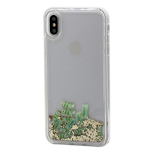 Keyihan iPhone X/XS Handy Hülle Luxus Niedlich Glitzer 3D Dynamisch Fließen Flüssig Shiny Treibsand Schutzhülle Liquid Case Soft Edge Bumper für Apple iPhone X XS (5.8