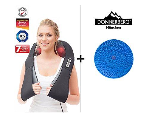 Nackenmassagegerät DAS Original Donnerberg Shiatsu Massage und Akupressurmatte Mini Berg im Set