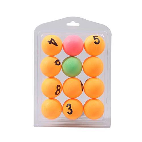 NiceButy 12st Tischtennis mit Nummber 3 Sterne Plus 40mm Orange Tischtennis, Weiterbildung Tischtennis Mischfarben und Gelb Outdoor-Sport-Produkte