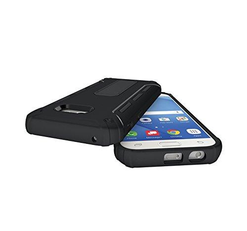 YHUISEN Galaxy A5 2017 Case, Cool Shockproof Rüstung Hybrid 2 In1 TPU und PC Rugged Dual Layer Mit Kickstand Fall für Samsung Galaxy A5 2017 A520 ( Color : White ) Black