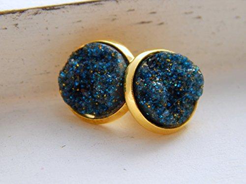 goldene-stecker-mit-handmade-cabochons-aus-resin-in-blau-und-gold