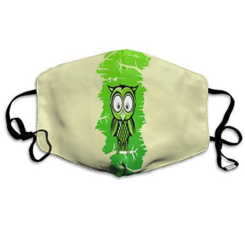 Anti-Staub-Maske Eule im Baum, Anti-Verschmutzung, waschbar, wiederverwendbare Mundmasken (Eule Im Baum Kostüm)