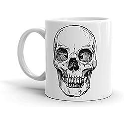 DV Mugs Ltd - Taza de café de alta calidad con diseño de calavera, 325 ml