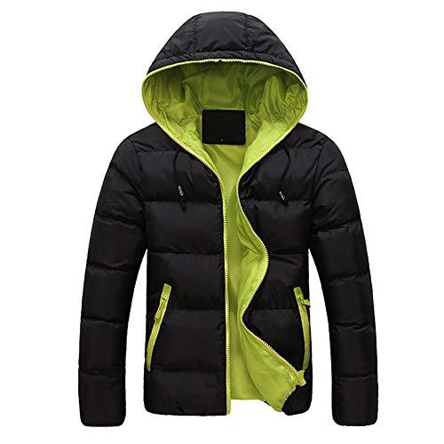 Koerim piumino con cappuccio leggero invernale da uomo cappotto imbottito in caldo parka outwear