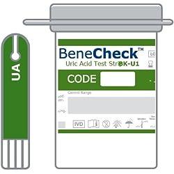 Tiras de prueba de ácido úrico (solo para uso con el medidor de Benecheck)