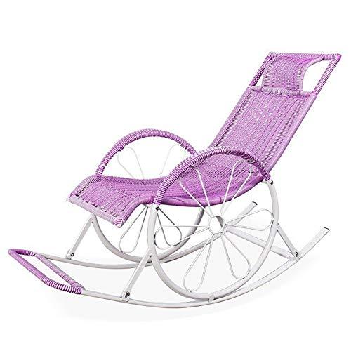 LIXIONG Schaukelstuhl All Wetter Lounge-Sessel Sessel PE Wicker Liegestühle Segelflugzeug Balkon Veranden Schaukeln Sitz, 6 Farbe (Color : D, Size : 130x62x100cm) -