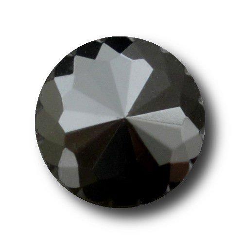 Knopfparadies - 8er Set besonders schöne nostalgische schwarz facettierte Knöpfe wie geschliffenes Glas / schwarz / Kunststoff / Ø ca. 18mm