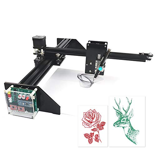 InLoveArts Kit robot da disegno in metallo Scrittore XY Plotter Scrittura a mano Kit robot Disegno automatico Scrittura Robot Penna Plotter Macchina firma X Asse Y