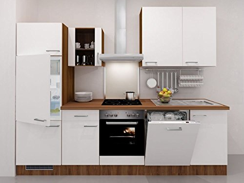 Küchenzeile Flex-Well Weiß 280 cm mit Geräten - Como