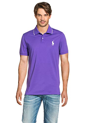 Polo Ralph Lauren Herren Poloshirt Tie Purple, Größe:M, Farbe:lila