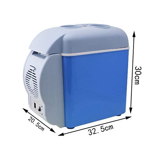 FISHD Kühlschrank tragbare elektrische-Tragbarer Kühlschrank fürs Auto 7,5 l große Kapazität,Mini-Kühlschrank Perfekt für Reisen und Camping Kleines Volumen und große Kapazität