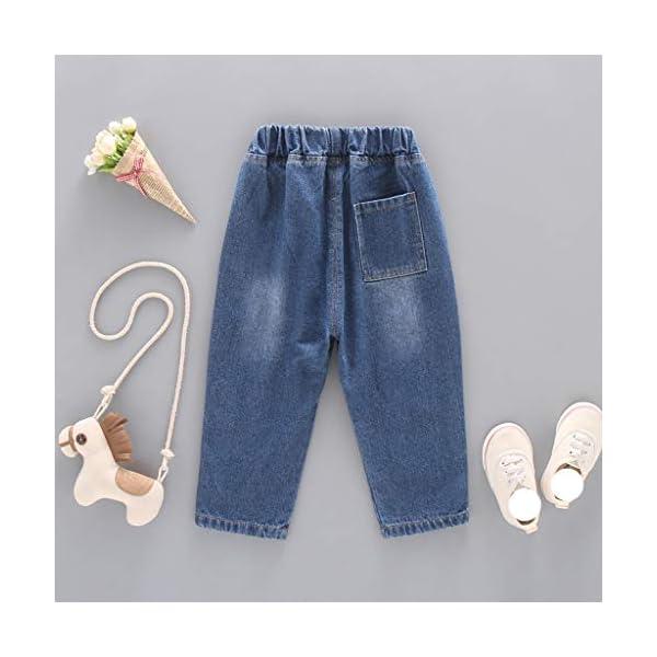 QinMMROPA bebé niñas niños Jeans Vaqueros Pantalones Largos 4