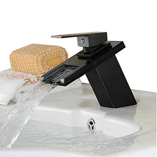 Lavabo grifo cascada de altura baño grifo mezclador monomando para fregadero de cristal boquilla sola palanca