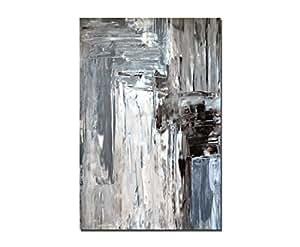120x80cm wandbild kunst abstrakt malerei braun grau leinwandbild auf keilrahmen - Leinwandbild grau ...