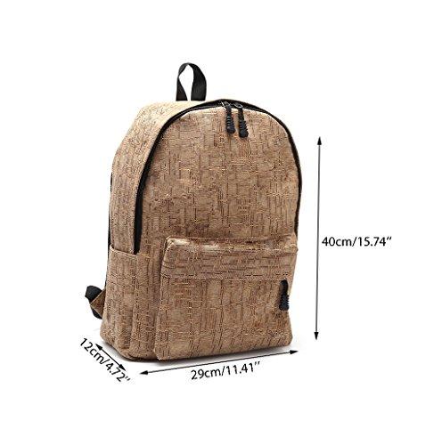 Dairyshop Borsa scolastica borsa scuola di borsa zaino tela da polso adolescente Borsa casuale USB Charge Interface (cachi) cachi