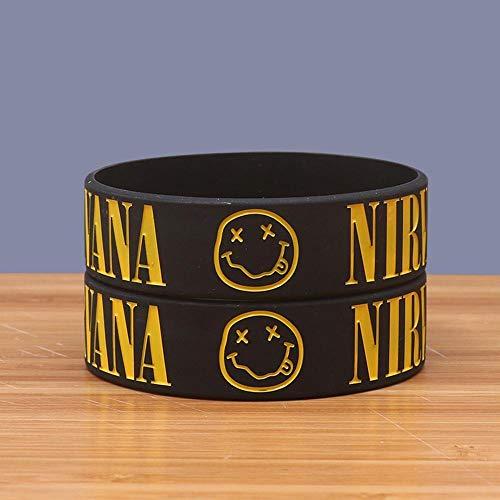 DuDuDu SilikonarmbäNder Kinder Nirvana-Nirvana-Band-Silikon-Armband (5 Paare)