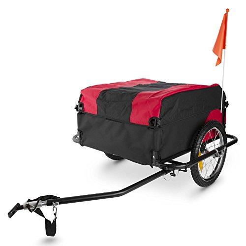 DURAMAXX Mountee • Fahrradanhänger • Lastenanhänger • Handwagen • mit Hochdeichsel • Transportbox mit 130 Liter Volumen • Tragkraft: max. 60 kg • Kugel-Kupplung für Fahrräder mit 26'' - 28'' • pulverbeschichteter Stahlrohrrahmen • rot - 6