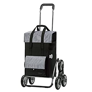 Andersen Shopping trolley Royal with bag Milla black, Volume 49L, steel frame and stair-climbing wheels