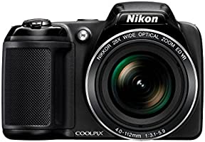Nikon Coolpix L340 Bridge Camera - Black (20 MP, 28x Optical Zoom) 3-Inch LCD