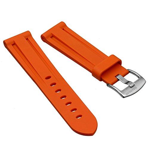 uhrenarmband-zuludiverr-gummi-tauchen-orange-geburstet-24mm