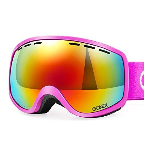 Gonex Kinder Skibrille Snowboard Brille, mit Doppelscheibe Anti-Fog für Junge und Mädchen, Size: 2,95 * 4,33 inch
