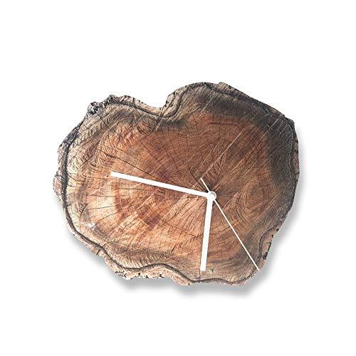 Zzyff Schön Wanduhr DIY Holz Acryl Europäischen Stumm Für Wohnzimmer Schlafzimmer Log Hotel Wohnzimmer Wanduhr Jährliche Ringe Minimalistischen Kreative Natur Retro Praktisch -