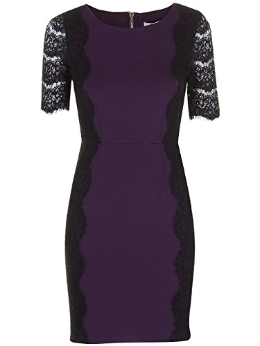 Darling - Robe - Manches Courtes - Femme violet violet/noir violet/noir