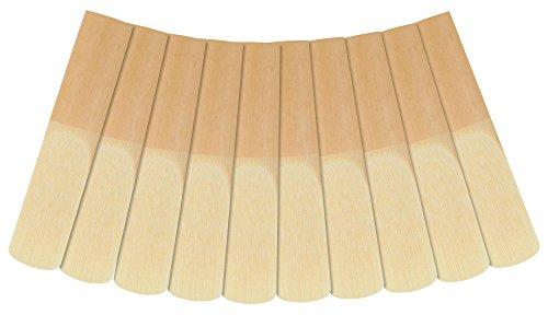 Classic Cantabile KLB-20 10er Pack Klarinette Blätter (Stärke: 2.0, Bb-Stimmung, deutscher Schnitt, langlebig, Schilfrohrholz, einzeln verpackt in Kunststoffhüllen)