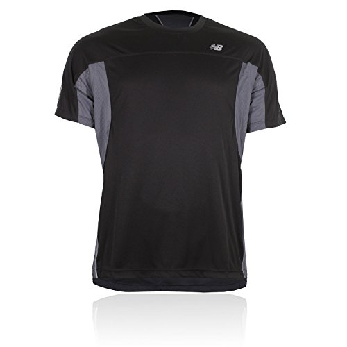 New Balance Ice Kurzarm Laufen T-Shirt Schwarz