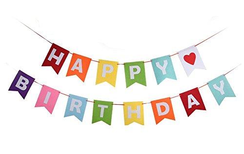 ~ TaleeMall Addobbi per Feste di Compleanno,Decorazioni Banner di Striscioni Buon Compleanno e Una 3.5m Grand Carta Arcobaleno con 6 Pezzi Ciondolo lista dei prezzi