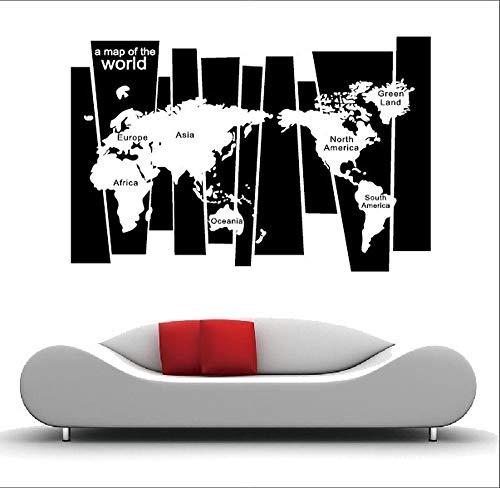 KXCTQ Wandaufkleber Wohnzimmer Schlafzimmer Kinderzimmer Kreative Tapete Auferlegung Weltkarte Klassische Aufkleber 75 * 105 cm (Sprachen Weltkarte)
