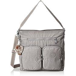 Kipling - Tasmo, Shoppers y bolsos de hombro Mujer, Grau (Urban Grey C), 31x29x14 cm (B x H T)