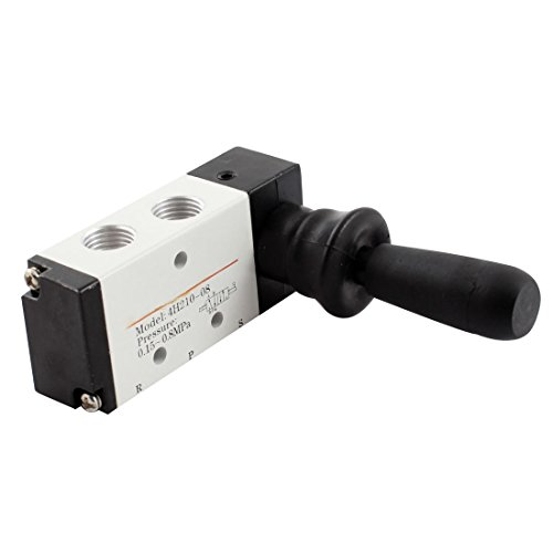 Preisvergleich Produktbild sourcingmap® Pneumatik 1/4PT Luft Einlass 2 Position 5 Wege Manuell Handschalter Ventil de