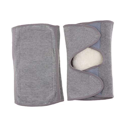 Wolle Knee Warmers (IPOTCH 1 Paar Elastische Knie-Wärmer mit warme Wolle Fleece - XL)