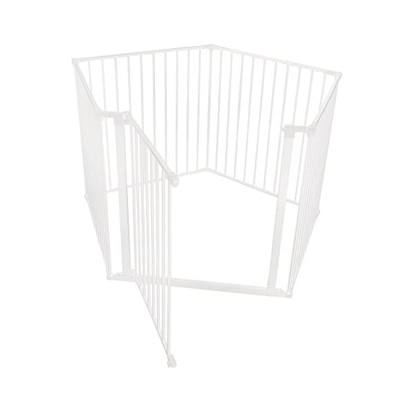 Safetots Baby Pentagon Play Pen with Mat (White) Safetots The perfect solution for keeping baby in a safe area whilst they rest and play Includes 1x 72cm Gate Opening Panel and 4x 72cm Panels Extra wide door section for easy access 2