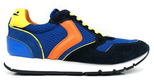 VOILE BLANCHE uomo sneakers basse LIAM SPOILER blu-giallo 42 Blu-Giallo-Arancio