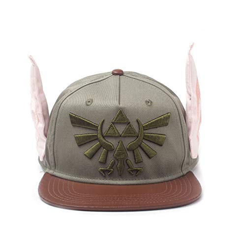 Nintendo Legend of Zelda Novelty Ears Snapback Baseball cap, Multi-Colour (SB548076ZEL) Cappellino Green, Etichettalia Unica Unisex-Adulto