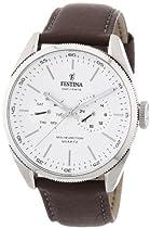 Festina Herren-Armbanduhr XL Analog Quarz Leder F16629/1