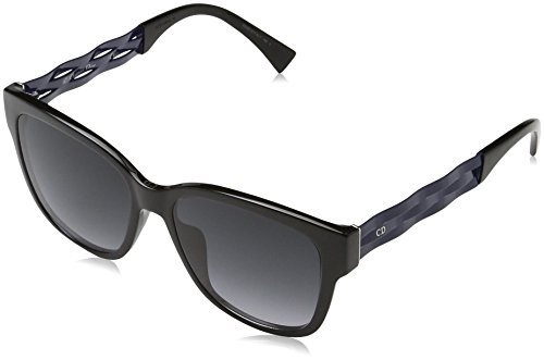 Dior Damen DIORRIBBON1N 9O UGO Sonnenbrille, Schwarz (Black Blue/Dark Grey Sf), 55