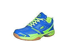 Port Python Blue Badminton Shoes( size 8 ind/uk)