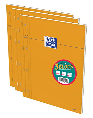 oxford-lot-de-3-blocs-orange-a4-agrafe-perfore-160pages-grands-carreaux