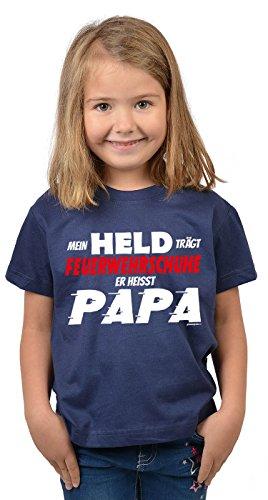 feuerwehrschuhe kinder Kinder Tshirt Papa Sprüche Vater Kind Kindershirt : trägt Feuerwehrschuhe Papa - Mädchen Sprüche Shirt Papa Tochter Gr: S = 122-128