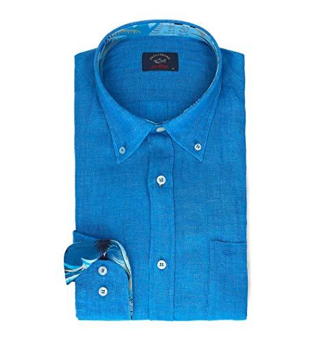 Paul & shark luxury fashion uomo p19p3198015o blu camicia | primavera estate 19