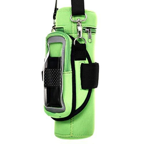 KangaLife Sherpa Sport 1605 Isolierte Wasserflaschen-Tasche & Wetterfeste Handyhalterung, Grün -