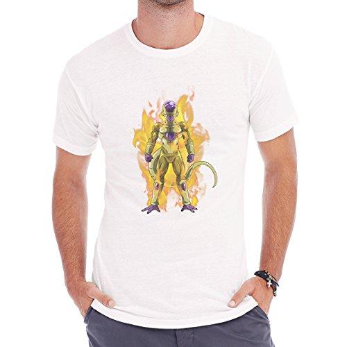 Dragon Ball Super Golden Frieza Aura Ready Herren T-Shirt Weiß