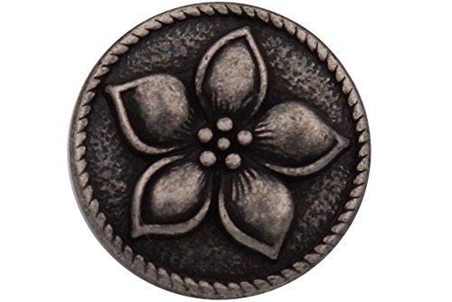 6 St/ück 15mm Silber Kn/öpfe aus Metall geschw/ärzt wundersch/önes Muster Made in Germany 15mm oder 20mm