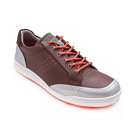 Zerimar scarpe da golf fabbricati in pelle bovina sport e confortevole casual running colore marrone taglia 41